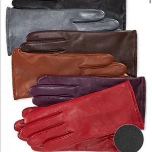 NWT Women's Cashmere Lined Leather Tech Gl…